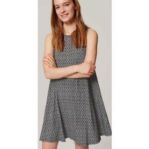 Loft Printed Sleeveless Mini Swing Dress Medium